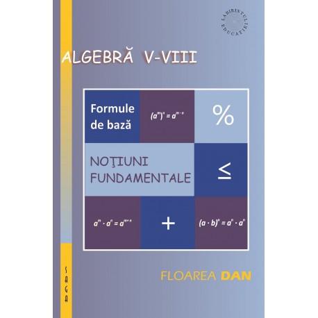Algebra pentru clasele V-VIII: noțiuni fundamentale și formule de bază